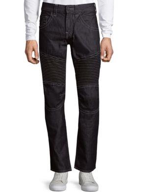 True Religion  Slim-Fit Run-Stitch Moto Jeans