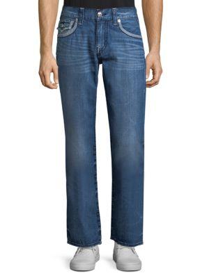 True Religion  Straight-Leg Flap Pocket Jeans