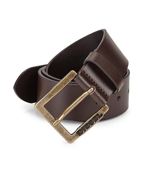 Logo Leather Belt