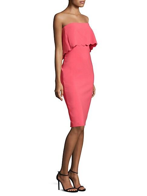 Scalloped Knee-Length Dress