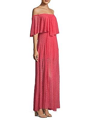 Blaine Ruffle Cotton Shift Gown