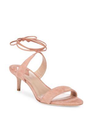 Aperlai Ankle Wrap Kitten Heel Sandals