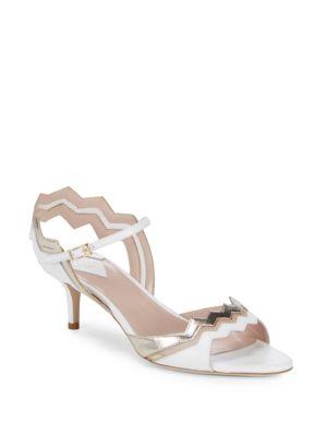 APERLAI Two-Tone Metallic Sandals in Gold