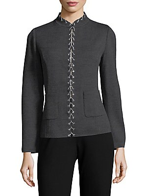 Mockneck Lace-Up Jacket