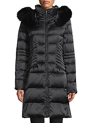 1 madison female hooded puffer down coats