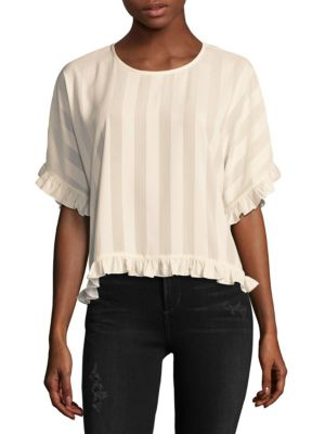 Laundry By Shelli Segal  Striped Blouse