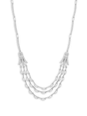 Nadri  Daphne Crystal Multi-Band Necklace