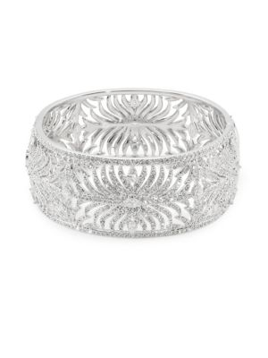 Adriana Orsini  Barbara Thick Cubic Zirconia Bangle Bracelet