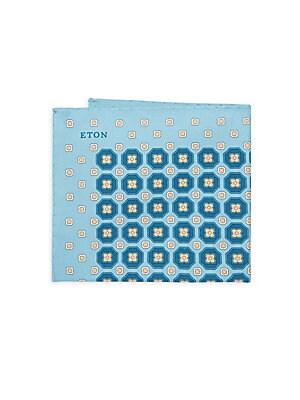 Geometric-Print Pocket Square
