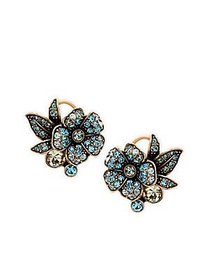 Bouquet Of Flowers Crystal Stud Earrings