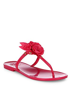 Blossom Jelly Thong Sandals