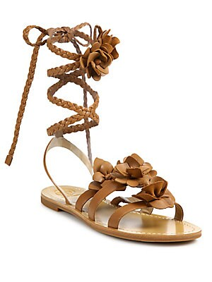 Blossom Gladiator Leather Sandals