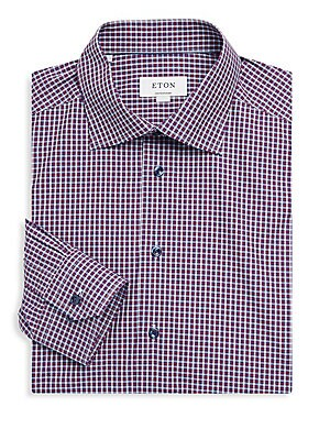 Contemporary-Fit Plaid Cotton Dress Shirt