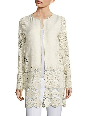 Jaya Metallic Brocade & Lace Jacket