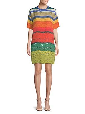 Multi-Color Silk Shift Dress