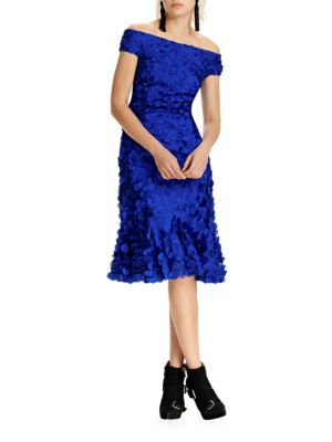 Sapphire Dress In Knee Theia Modesens Length Petal pHRqW7