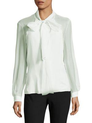 Carolina Herrera  Sheer Silk Blouse