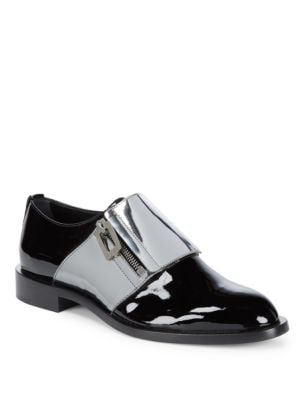 Roger Vivier  Patent Leather Zip Loafers