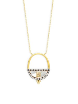 Freida Rothman  Open Oval Pendant Necklace