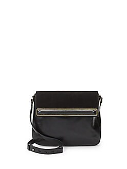 Saddle Leather Crossbody Bag BLACK. Product image. QUICK VIEW. Halston  Heritage 9cc8f8f9de572