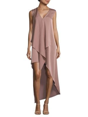 Bcbgmaxazria  Tara Draped Hi-Lo Dress