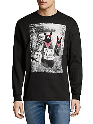 Graphic Cotton Sweater