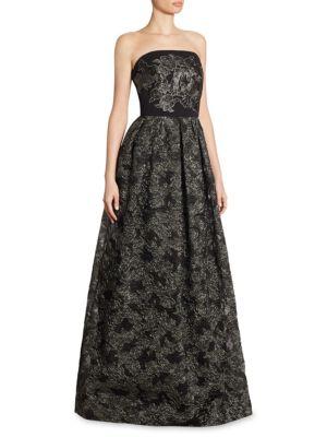 St. John  Metallic Rose Gown