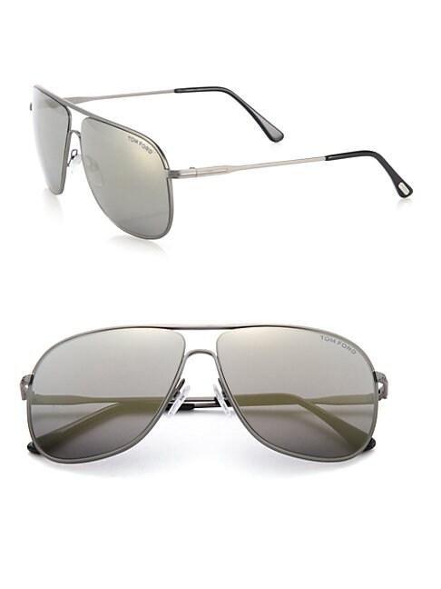 Dominic 60MM Metal Navigator Sunglasses