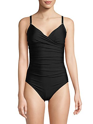 Ruched One-Piece Swimsuit