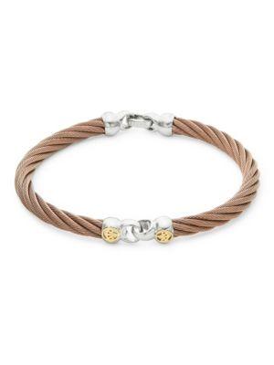 Alor  18K Gold & Bronze Cord Bracelet