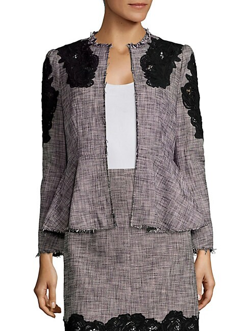 Slub Lace Inset Jacket