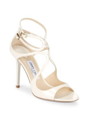 Jimmy Choo  LANG STRAPPY LEATHER PUMPS