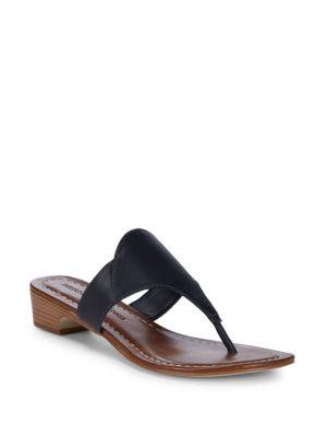 BERNARDO Gabriella Thong Sandals in Navy