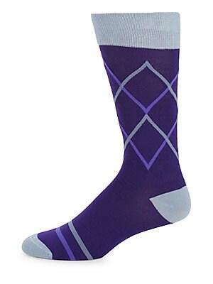 Diamond Geometric Socks