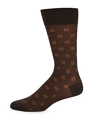 Mid-Calf Patterned Socks