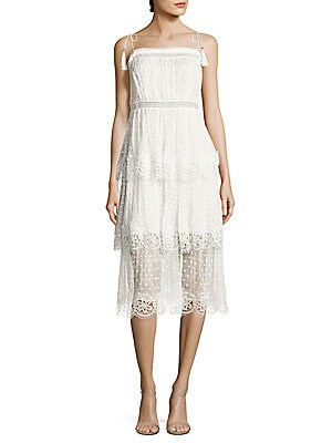 Meridian Circle Lace Tiered Dress