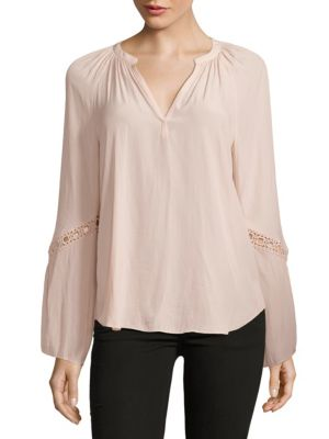 Ramy Brook  Lace-Trimmed Blouse