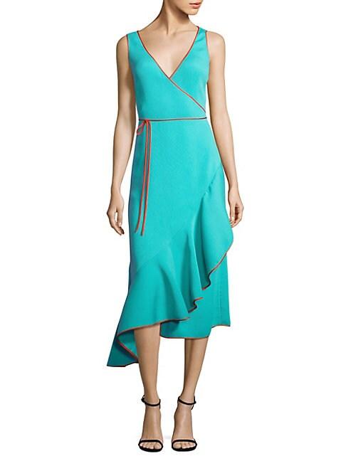 Asymmetrical Ruffle Hem Dress