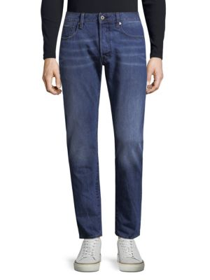 G-Star Raw  Slim-Fit Whiskered Cotton Jeans