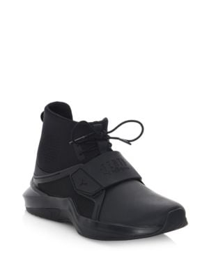 Fenty By Rihanna High-Top Trainer Sneakers in Black