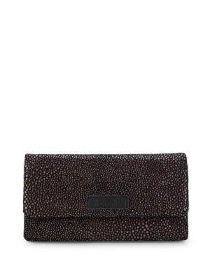 Liebeskind Metallic Stingray Foldover Leather Wallet