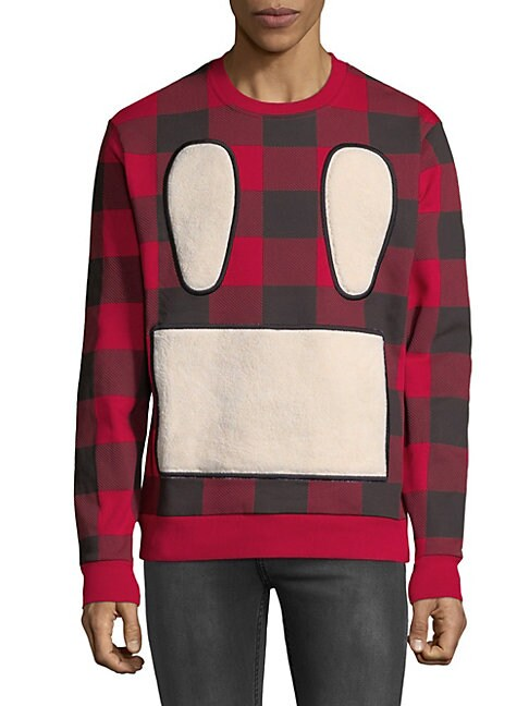 Checkered Crewneck Sweatshirt
