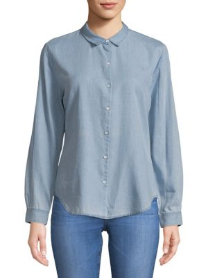 THE BLUE SHIRT SHOP Classic Button-Down Shirt in Mid Wash