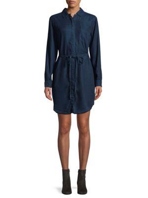 THE BLUE SHIRT SHOP Denim Shirtdress in Indigo Ove