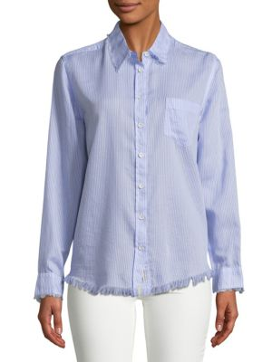 THE BLUE SHIRT SHOP Mercer & Spring Regular-Fit Shirt in Blue And White