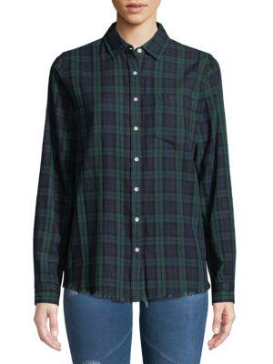 THE BLUE SHIRT SHOP Mercer & Spring Plaid Shirt in Green Double