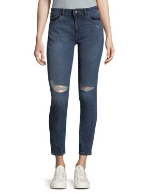 Dl1961 Margaux Instasculpt Distressed Skinny Jeans