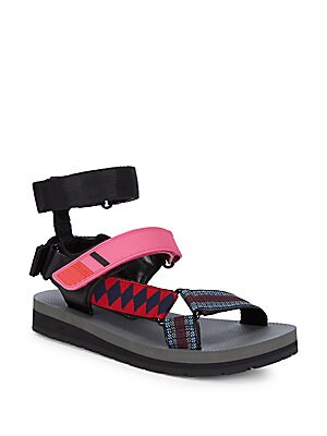 Multi-Strap Grip Tape Sandals