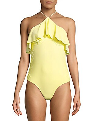 6 shore road female katies onepiece ruffled swimsuit