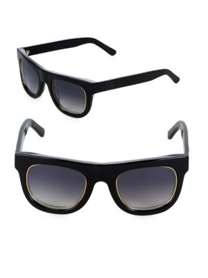 Westward Leaning Pharoah 49MM Square Sunglasses
